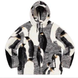 Supreme - Supreme Penguins Hooded Fleece Jacket L