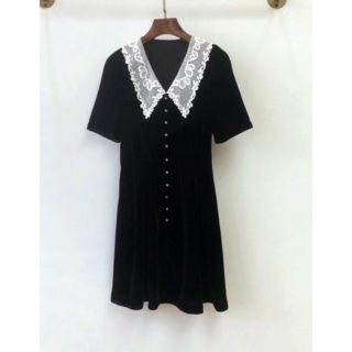 ミュウミュウ(miumiu)の日本未入荷【MIU MIU】ベルベットドレス ワンピース(ミニワンピース)
