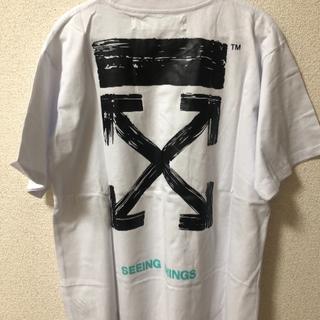 オフホワイト(OFF-WHITE)のOFF-WHITE ホワイト メンズ Tシャツ(Tシャツ/カットソー(半袖/袖なし))