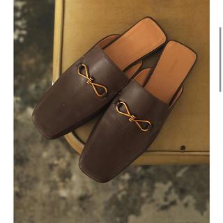トゥデイフル(TODAYFUL)のtodayful Leather Slide Loafers 38(ローファー/革靴)