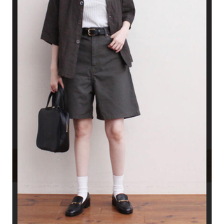 fig London - figlondon cotton sarge short pants