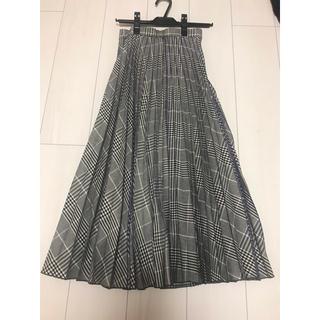 ココディール(COCO DEAL)のCOCO DEAL 先染めチェック×プリントプリーツスカート(ロングスカート)