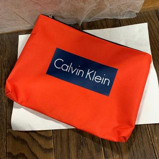 カルバンクライン(Calvin Klein)のカルバンクライン 新品 ポーチ セカンドバッグ ナイロン オレンジ(セカンドバッグ/クラッチバッグ)
