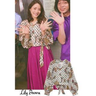 Lily Brown - LilyBrown(リリーブラウン)  オリエンタル柄開襟シャツ