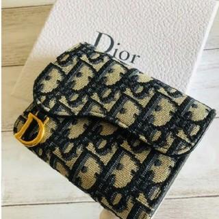 クリスチャンディオール(Christian Dior)の新品箱入り ディオール Dior サドル Saddle 折りたたみ財布(折り財布)