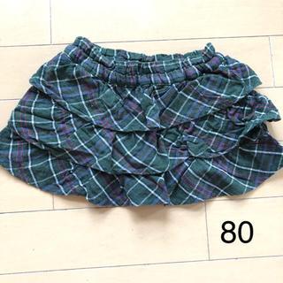 ニシマツヤ(西松屋)の美品☆ベビー チェック ティアードスカート(スカート)