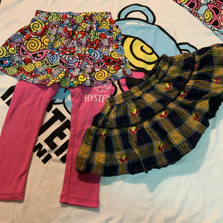 HYSTERIC MINI - 刺繍スカート&スカッツ