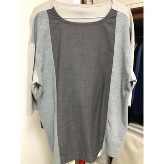 切り替え 再構築 パッチワーク Tシャツ カットソー ドゥルカマラ 古着(Tシャツ/カットソー(半袖/袖なし))