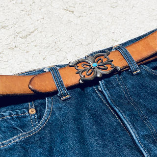 goro's - goro's  ゴローズ ベルト 金縄 ターコイズ 3.5cm  サドル