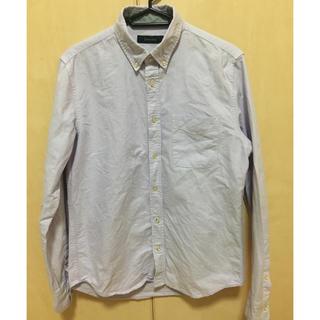 レイジブルー(RAGEBLUE)のレイジブルー  無地 薄紫 パープル 長袖 シャツ Sサイズ(シャツ)