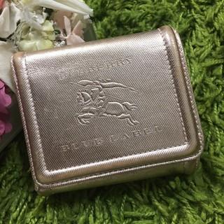 BURBERRY - 美品burberryバーバリー レディレザーウォレット 本革型押し折財布