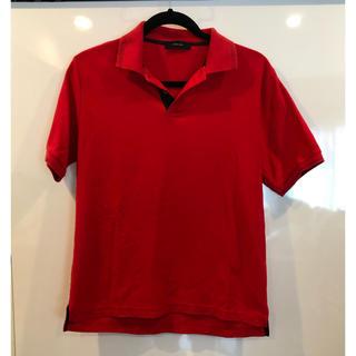 グローバルワーク(GLOBAL WORK)の【中古:グローバルワーク】ポロシャツ(赤:L)(ポロシャツ)