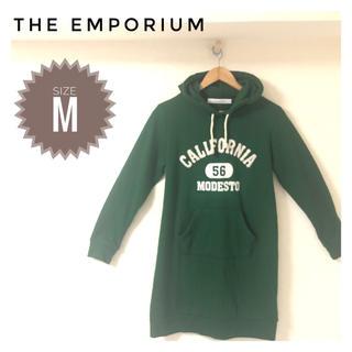 ジエンポリアム(THE EMPORIUM)の☆ラフに着やすいワンピ☆ ジエンポリアム パーカー スウェットワンピース 秋 冬(ミニワンピース)