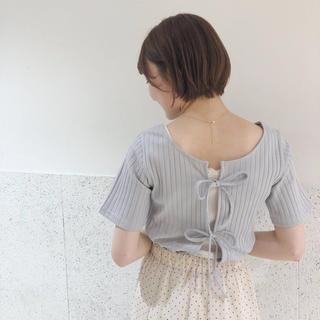 フラワー(flower)の♡ fully ribbon top2 ~フリーリボントップ2 ♡(カットソー(半袖/袖なし))