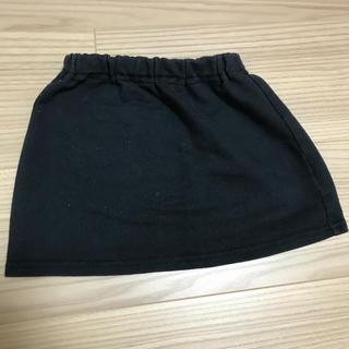 ムジルシリョウヒン(MUJI (無印良品))のスカート 80cm 黒 無印良品(スカート)