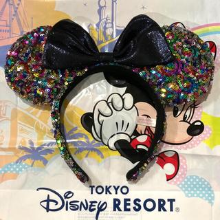 Disney - ディズニー カチューシャ 耳 スパンコール