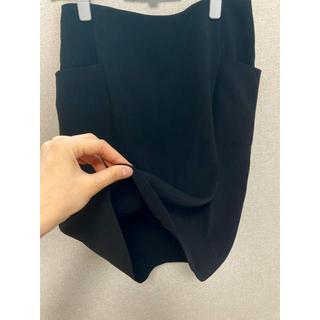 COMME CA DU MODE - 手洗いok COMME  CA DU MODE とろみスカート 黒 サイズ9号