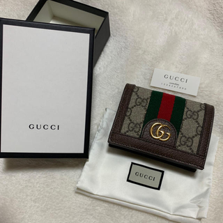 Gucci - 【美品】GUCCI グッチ 折りたたみ財布 財布 二つ折り財布 〈箱あり〉