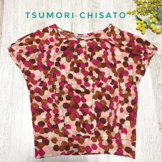 ツモリチサト(TSUMORI CHISATO)の秋色/TSUMORI CHISATO薄手ウール100%トップス(カットソー(半袖/袖なし))