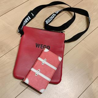 ウィゴー(WEGO)のWEGOサコッシュ スマホケースセット(ショルダーバッグ)