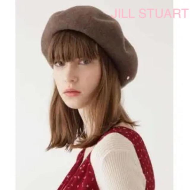 JILLSTUART(ジルスチュアート)のジルスチュアート モカブラウン ウールベレー帽 レディースの帽子(ハンチング/ベレー帽)の商品写真