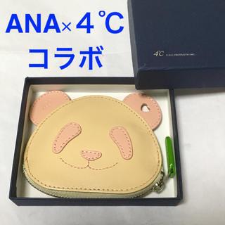 ヨンドシー(4℃)のANAパンダ × 4℃ コラボ パンダ 小銭入れ コインケース ピンク 箱付き(コインケース)