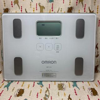 オムロン(OMRON)のOMRON 体重体組成計 HBF-216-W(体重計/体脂肪計)