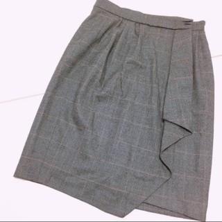 スピックアンドスパン(Spick and Span)の【美品】Spic&Span巻きスカート(ひざ丈スカート)