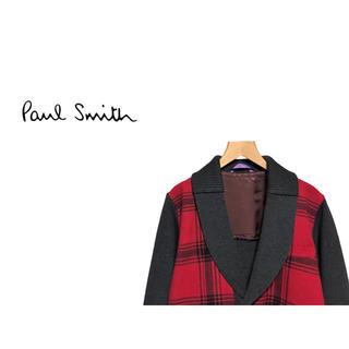 ポールスミス(Paul Smith)のPaul Smith チェック  ショールカラー カーディガン / メインライン(カーディガン)