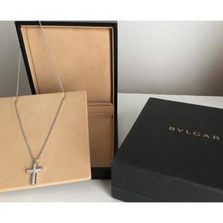 BVLGARI - ブルガリ  ラテンクロスダイヤモンドネックレス  k18WG