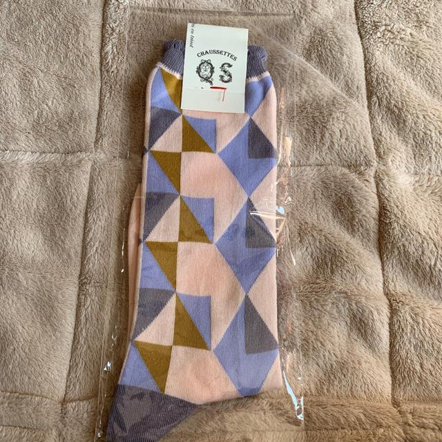 quatre saisons(キャトルセゾン)のキャトルセゾン  靴下  ピンク レディース レディースのレッグウェア(ソックス)の商品写真