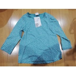 エイチアンドエム(H&M)の新品 H&M ロンT 長袖Tシャツ 80 ドット 緑(Tシャツ)