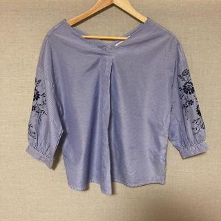 ショコラフィネローブ(chocol raffine robe)のストライプシャツ(シャツ/ブラウス(長袖/七分))