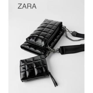 ZARA - 【新品・未使用】ZARA  3-IN-1 ウォレット キルティング バッグ