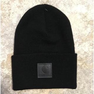 カーハート(carhartt)の【新品】carhartt カーハート ニット帽 ブラック 黒パッチ(ニット帽/ビーニー)