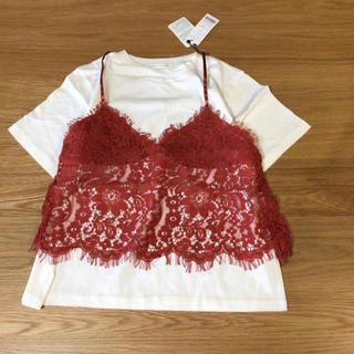 ウィゴー(WEGO)のWEGO ⭐️新品⭐️ レースビスチェ レイヤード T(Tシャツ(半袖/袖なし))