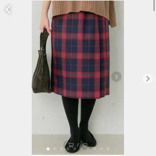 サニーレーベル(Sonny Label)のURBAN RESEARCH ウールミックスチェックプリーツスカート。サイズ36(ひざ丈スカート)