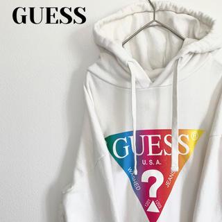 ゲス(GUESS)の【人気!!】GUESS グラデーショントライアングル パーカー(パーカー)