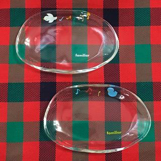 ファミリア(familiar)のファミリア ペアガラス小皿(食器)