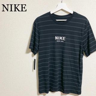 ナイキ(NIKE)の★未使用★NIKE SB Tシャツ メンズM 黒 ボーダー ロゴマーク(Tシャツ/カットソー(半袖/袖なし))