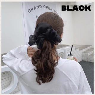 ディーホリック(dholic)の新色 即購入可⭐️オーガンジーシュシュ★ビッグ シュシュ★韓国♥ブラック(ヘアゴム/シュシュ)