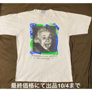ヘインズ(Hanes)の超希少!アインシュタインArtビンテージ90s Tシャツ Made in USA(Tシャツ/カットソー(半袖/袖なし))
