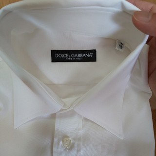 ドルチェアンドガッバーナ(DOLCE&GABBANA)のDOLCE&GABBANA ドルガバ シャツ 白 38 S~M ほぼ未使用 美品(シャツ)
