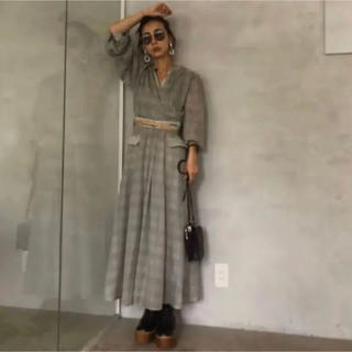 Ameri VINTAGE - AMERI ワンピース check retro slender dress