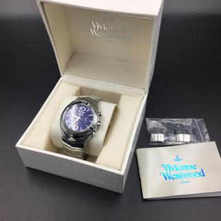ヴィヴィアンウエストウッド(Vivienne Westwood)のVivienne Westwood アーマークロノグラフ ヴィヴィアン 新品電池(腕時計(アナログ))