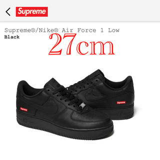 Supreme - Supreme Force 1 LOW 黒 BLACK 27cm US9 送料込