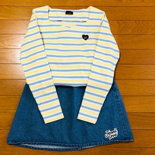 ジェニィ(JENNI)のJENNI  カットソー・デニムスカート(Tシャツ/カットソー)