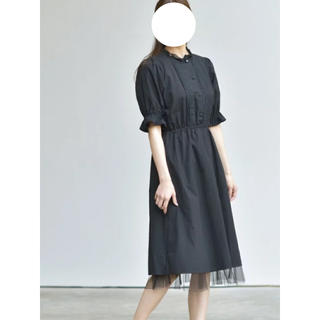 heather - r.p.s 裾チュールレイヤーワンピース