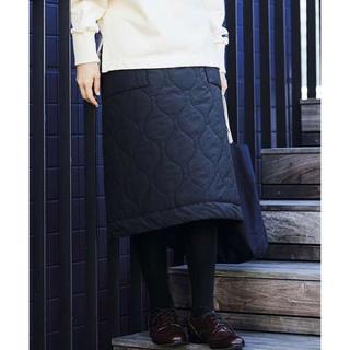 FELISSIMO - サニークラウズ キルティング スカート  ブラック