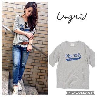 アングリッド(Ungrid)のUngrid**play ballプリントtee(Tシャツ(半袖/袖なし))